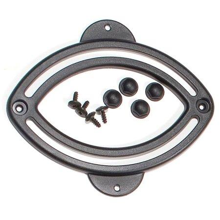 Ortlieb Elipsvormige Rail Quick Lock 1  en 2  - Voor onderste haak