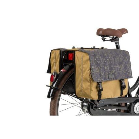 FastRider Dubbele fietstas Livia Olijfgroen MIK 33L