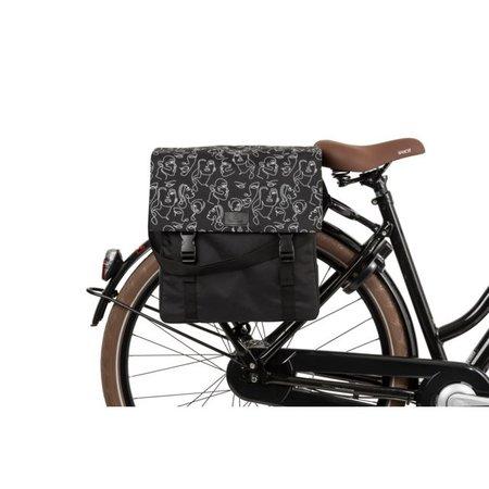 FastRider Enkele fietstas Shopper Livia Trend Zwart 17L