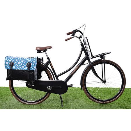 Beck Dubbele fietstas Classic Fleur 46L