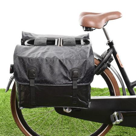 Beck Dubbele fietstas Classic Gold Rectangles 46L
