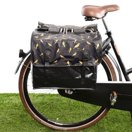 Beck Dubbele fietstas Classic Gold Birds 46L