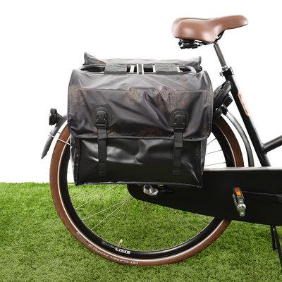 Beck Dubbele fietstas Classic Gold Mandala 46L