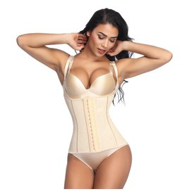 LaFaja LaFaja – Waist Trainer Semi-Vest - 9 Bones- Perforated Latex