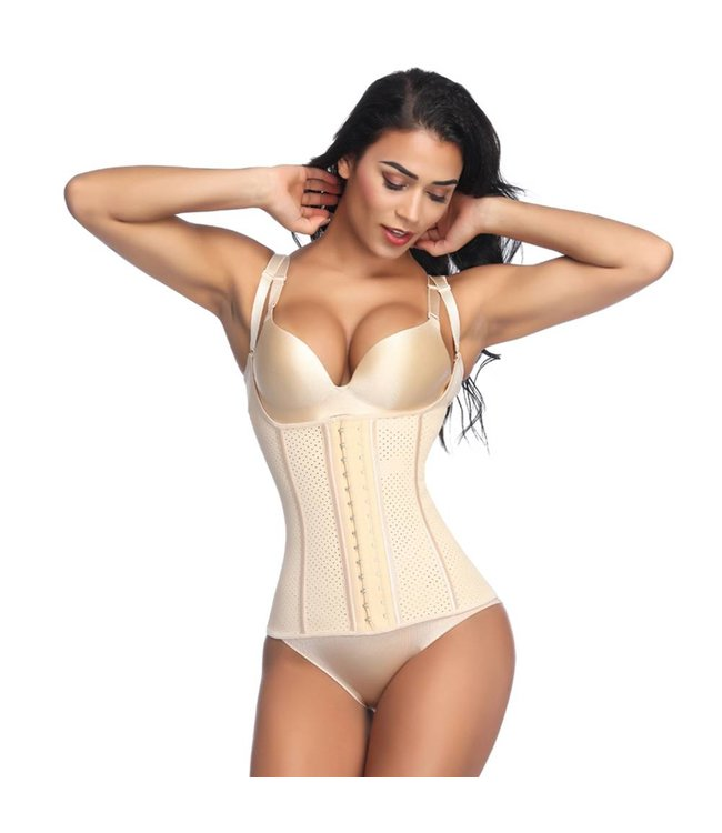 LaFaja LaFaja – Colombian Waist Trainer Semi-Vest -Perforated Latex - 9 bones - 3Hooks