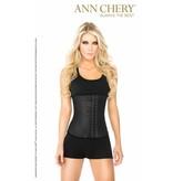 Ann Chery Ann Chery – Latex Waist Trainer zwart 3-hooks - Model 2021 - bestseller !