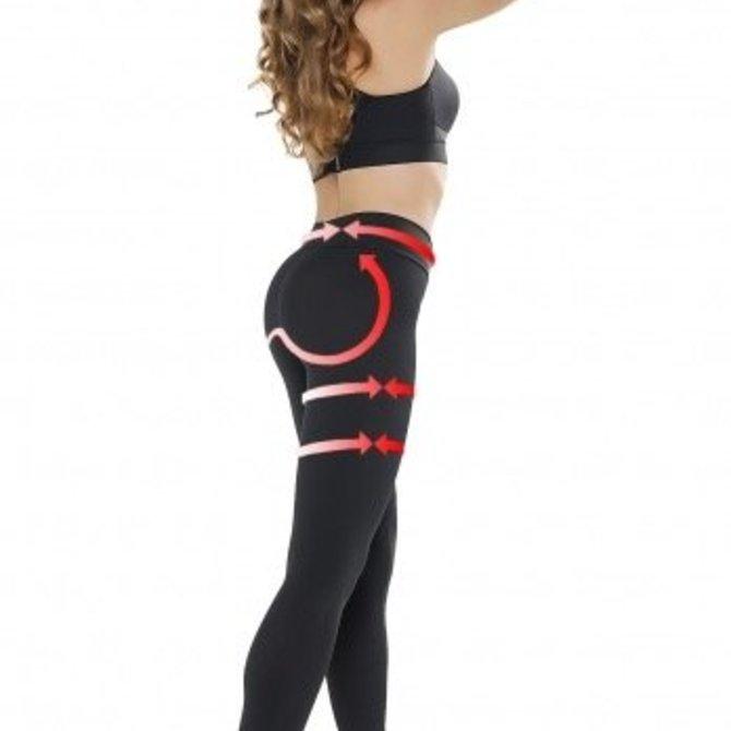 Gwinner Gwinner Push Up en Anti Cellulitis Legging voor een slanker, strakker silhouette - Gwinnner