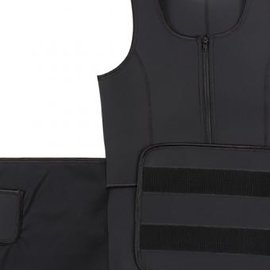 LaFaja LaFaja – Neopreen 'Waist Plus' Zweet Vest - Extra Taille Gordel - Zwart