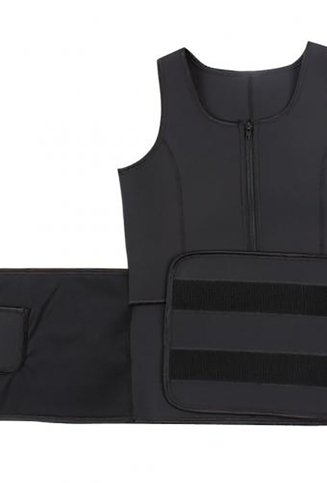 LaFaja LaFaja –  Neopreen 'Waist Plus' Vest - Ultra Sweat Afslankvest  - Zwart