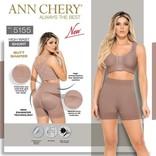 Ann Chery Ann Chery - Short taille haute - correction de la taille aux jambes avec une nouvelle technologie de remonte fesses - modèle 5155 - Couleur Cacao