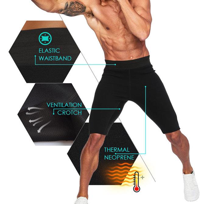 LaFaja LaFaja For Men – Sport Compressie Broek - Hoogwaardig Neopreen - anti slip binnenzijde