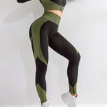 Trendy ensemble Fitness/ yoga /taille haute / effect pushup fesses / Veste 'cropped'