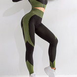 Trendy Fitness - Yoga Outfit met Booty Lifting effect en cropped Vestje