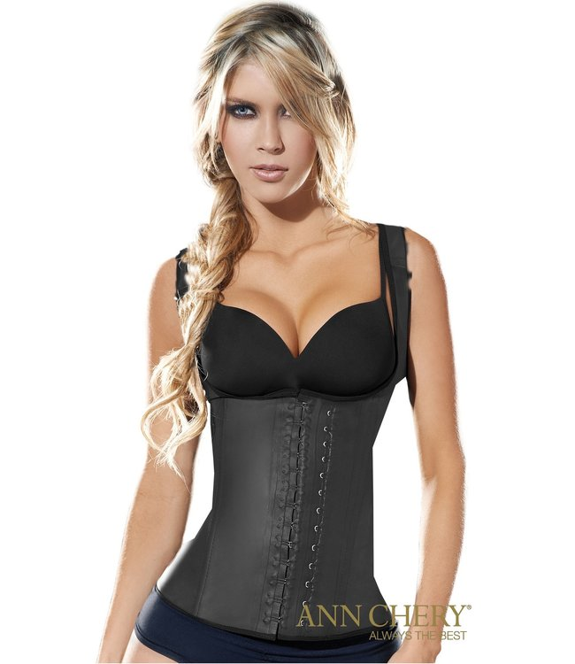 Ann Chery Ann Chery – Latex Waist Trainer Vest / Model 2027 / 2-Hooks / Black