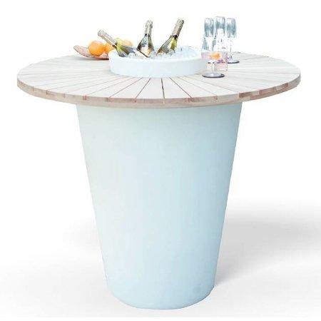 Otium Design Olla Vinum. Mesa en diferentes colores para interior y exterior.
