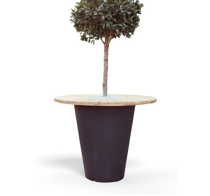 Otium Design Olla Herba. Table en différentes couleurs pour l'intérieur et l'extérieur.
