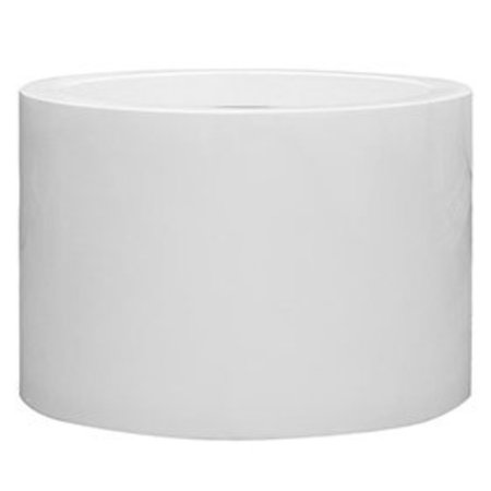Fiberstone Glossy Jumbo Max Middle High - Hoogwaardige kwaliteit bloempot in hoogglans wit!