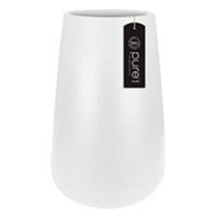 Elho Elho Pure Cone High - Blanc Élégant pot à fleurs diam 43cm H67cm. -15% de réduction sur la commande en ligne!