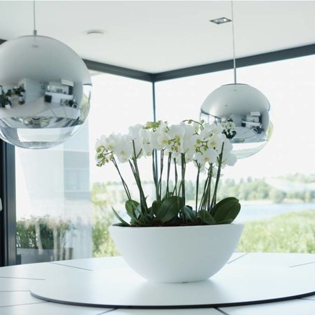 Elho Elho Pure Soft Bowl - De perfecte stijlvolle witte ronde bloempot diam 50cm H20cm. - 15% online bestellen