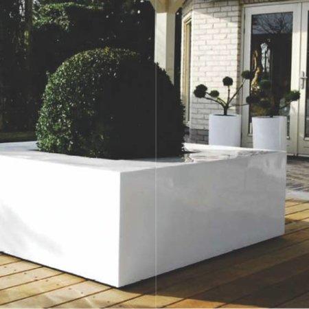 Fiberstone Jumbo Seating Glossy White - Unieke en veelzijdige plantenbak voor binnen én buiten!