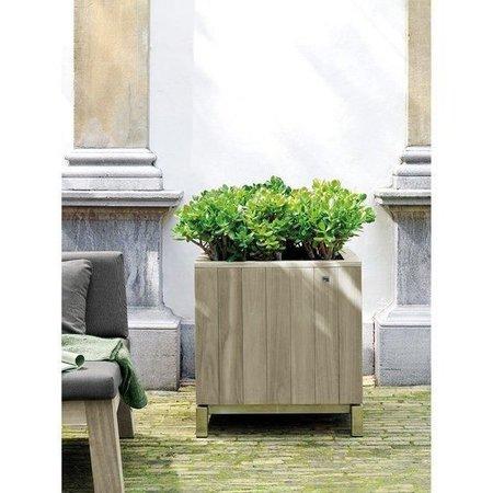 Fleurs Ami Kayu planteur de teck pour votre bureau, maison ou jardin