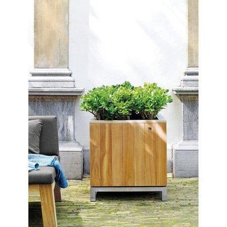 Fleurs Ami Kayu  plantenbak van teak voor op uw kantoor, huis of tuin