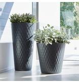 Elho Pure Straight Crystal Anthracite Pot de fleurs 37cm H36cm -15% de réduction en ligne!