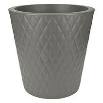 Pure Straight Crystal Stone gris 37cm H36cm Pot de Fleurs rond