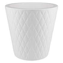 Pure Straight Crystal blanc 37cm h36cm pot de fleurs autour