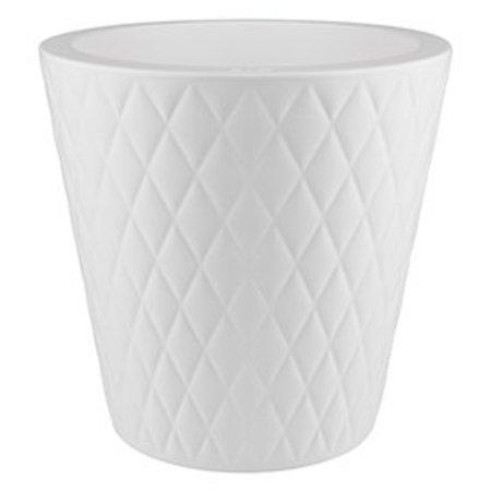 Elho Pure Straight Crystal blanc Pot de fleurs 37cmH36cm -15% de réduction en ligne!