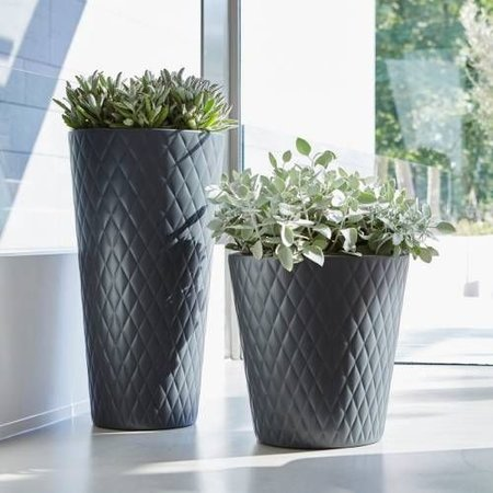 Elho Pure Straight Crystal Anthracite Pot de fleurs 47cm H48cm -15% de réduction en ligne!