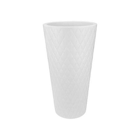 Elho Elho Pure Straight Crystal High  Witte bloempot 42cm H80cm -15% korting online bestellen!