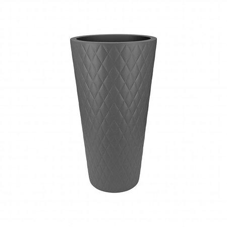 Elho Elho Pure Straight Crystal High  Antraciet bloempot 42cm H80cm -15% korting online bestellen!