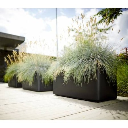 Elho Jardinière Pure Soft Brick Longues roues anthracite 80 x 40 cm H40cm. -15% de réduction commande en ligne!