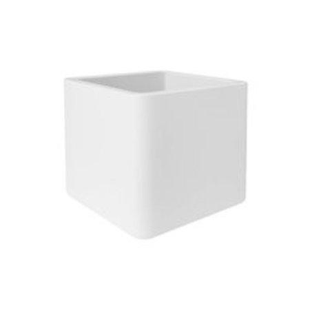 Elho Jardinière Elho Pure Soft Brick roues blanche 50 x 50cm H50cm - 15% de réduction en ligne!