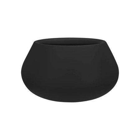 Elho Elho Pure Cone Bowl- Élégant pot de fleurs noir diam 60cm H30cm. -15% de réduction sur la commande en ligne!