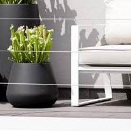 Elho Elho Pure Cone Pot à fleurs rond noir  Diam 43cm H36cm. -15% de réduction sur commande en ligne