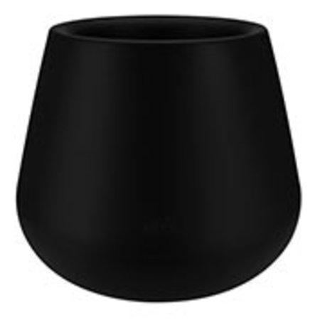 Elho Pot à fleurs rond noir Elho Pure Cone Diam 43cm H36cm. -15% de réduction sur commande en ligne
