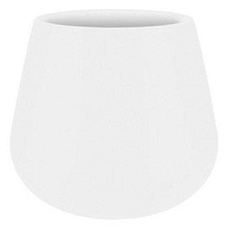 Elho Pot à fleurs rond blanc Elho Pure Cone Diam 55cm H46cm. -15% de réduction sur commande en ligne
