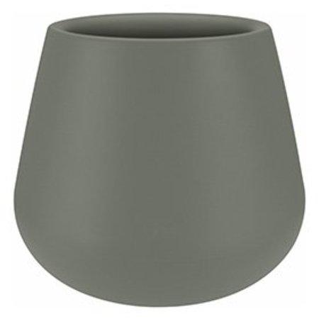 Elho Pot à fleurs rond gris pierre Elho Pure Cone Diam 55cm H46cm. -15% de réduction sur commande en ligne