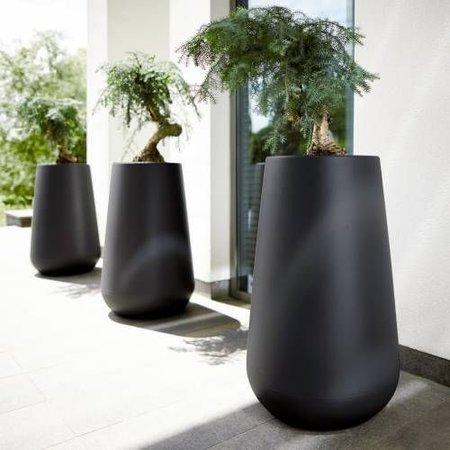Elho Elho Pure Cone High - zwarte Stijlvolle bloempot diam 43cm H67cm. -15% korting online bestellen!