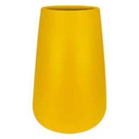 Elho Elho Pure Cone High - ocre Élégant pot à fleurs rond haut diam 43cm H67cm. -15% de réduction sur la commande en ligne!