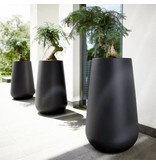 Elho Elho Pure Cone High - zwarte Stijlvolle hoge ronde bloempot diam 55cm H85cm. -15% korting online bestellen!
