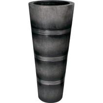 Cosmos plantenbak zwart aluminium diam 50cm H 115cm