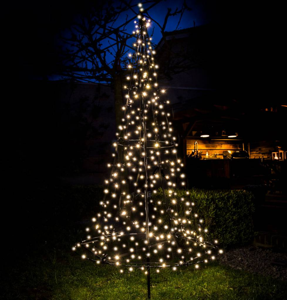 fairybell fairybell kerstboom h185cm 250 led lampjes imposante kerstboom in uw tuin of pand
