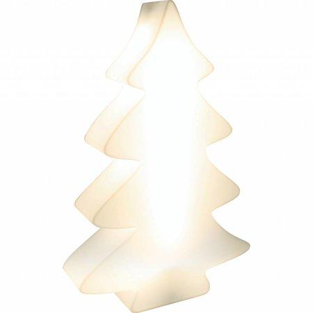 Fleurs Ami Fleur Ami Lumenio Kerstboom - wit verlichte unieke kerstboom 70 x 20cm H115cm met verlichting