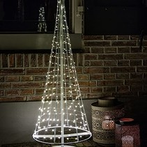 santa tree  wit en zilver led white H 100