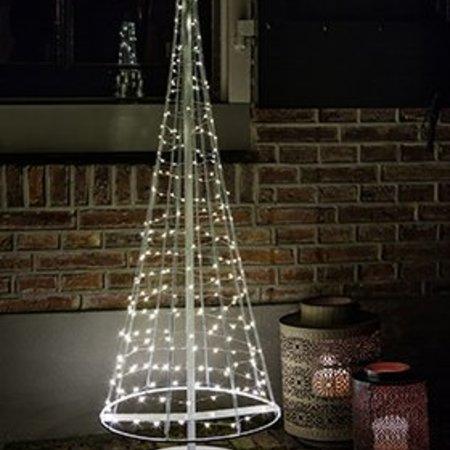 santa tree  wit en zilver led white H 100