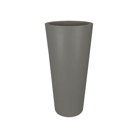 Elho Elho Pure Droite Ronde Haute. Pierre grise Haut pot de fleurs rond diam 40cm H80cm. -15% commander en ligne!