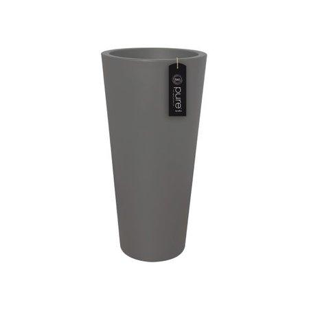 Elho Elho Pure Straight Round High. Antraciete Hoge ronde bloempot diam 60cm H124cm. -15% online bestellen!